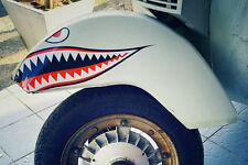 """3"""" Flying Tigers Shark Teeth Die-cut Vinyl Decals for Tank/Front Mudguard vespa"""