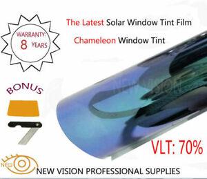 VLT70% Anti-heat Color Change Chameleom Car Window Tint Film IR 95% 2Mil