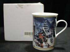 M I Hummel Fine Porcelain Mug November Ride Into Christmas Mib Danbury Mint