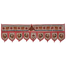 Indian Cotton Embroidered Door Hanging Vintage Elephant Window Valance Toran