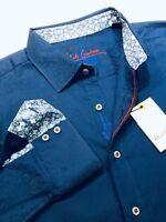 Robert Graham Large Shirt Mens Windsor Navy Geometric Paisley Long Sleeve New