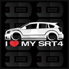 I Love My SRT4 Sticker Decal Heart Mopar Dodge Caliber SRT - 4 Turbo Race Car