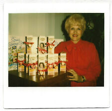 Vintage 80s Kodak Instant PHOTO Blond Woman w/ Clairol Loving Care Hair Color