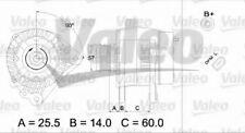 Alternateur VALEO 437395 NEUF  VW POLO Variant 6KV5 1.4 16V 75ch