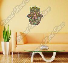 "Hamsa Hand Palm Abstract Colorful Wall Sticker Room Interior Decor 20""X25"""