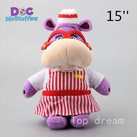 Official Disney Store Doc McStuffins Hallie Hippo Plush Toy Soft Doll 15'' Teddy