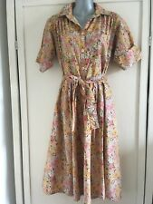 Vintage original Susan Small Liberty print floral tea dress, size 10-12, 1940s