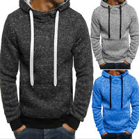 Mens Winter Hoodies Hoodie Hooded Sweatshirt Outwear Sweater Warm Coat Jacket
