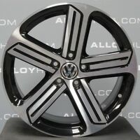 """GENUINE VW GOLF R CADIZ MK7 MK6 18""""INCH BLACK/DIAMOND CUT SINGLE ALLOY WHEEL X1"""