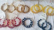 Joblot 25 Pairs  Diamante & Crystal big Hoop Earrings-Wholesale New