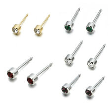 Surgical Steel Crystal Piercing Tool Ear Earing Stud Ear Studs Kit NEW 1Pair