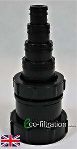 """2"""" BSP FEMALE THREAD TO A 43MM HOSETAIL (SMALL) KOI FISH POND PUMP PIPE FITTING"""