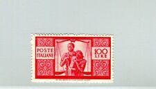Italia repubblica 1945 democratica lire 100 ben centrato mnh