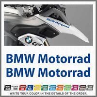 2x BMW Motorrad Blue R1200 R1150 F800 F650 F700 GS 99-17 PEGATINA AUTOCOLLANT