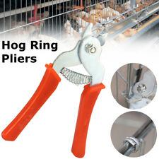 Hog Ring Pliers Tool M Clips Staples Bird Chicken Mesh Cage Wire Fencing Netting