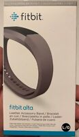 Fitbit Alta Accessory Leather Graphite Gray Large Replacement Band
