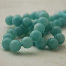 """Grade AAA Natural Amazonite Semi-precious Gemstone 8mm Round Beads - 15.5"""""""