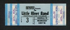 1979 Little River Band unused concert ticket Knoxville TN First Under The Wire