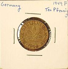 1949-F Germany 10 Pfennig