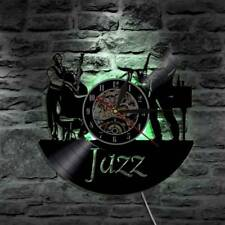 LED CD Record Wall Clock Retro Clocks Backlight Music Wall Watch Home Decor