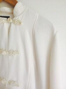 Cream Malcolm Tunic Asian Minimalist Style Size 12