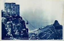 RPPC LION'S HEAD & AERIAL CABLEWAY ST CAPE TOWN SOUTH AFRICA REAL PHOTO POSTCARD