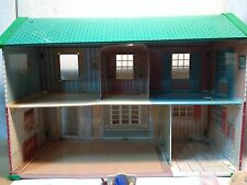 Awesome Vintage Metal Dollhouse With Furniture and Accessories