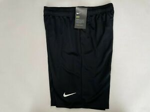 NIKE DRY Black Shorts Youth XL NEW w/Tags Soccer Swoosh (898025-010) Unisex