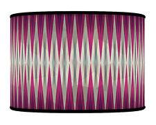 20 cm Spikes Purple Grey  Geometric Handmade  fabric lampshade pendant 304