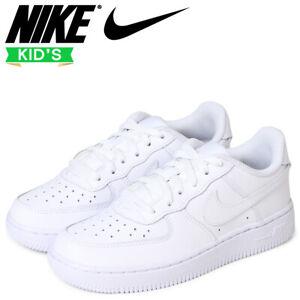 Nike Pre School All White Force 1 Fashion School Trainer Sneakers Boys Unisex