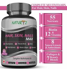 Naturyz Biotin Hair, Skin & Nails Complete Multivitamin 60 Tablets Free Ship