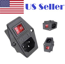 10A 120V IEC320 Inlet Module Plug Fuse Switch Male Power Socket