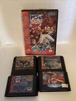 Sega Genesis 5 Football Game Lot - Tested - Free Shipping (USA)