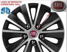 4 resin stickers for wheel hub 4 adesivi top 3D Ø 57 mm logo FIAT color New