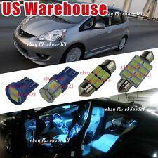 10x Aqua Ice Blue LED Light Interior Package inside Kit For 09-14 Honda Fit Jazz