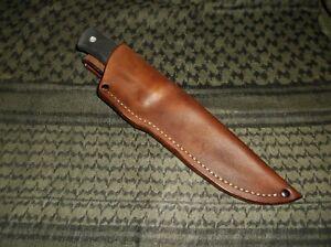 Fallkniven A1 Custom Hand made, USA Leather Belt Sheath Only RH Brown, Or Black