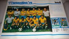 POSTER GIGANTE Argentina '78  Squadra Brasile / Brasil cm 70 50 circa.
