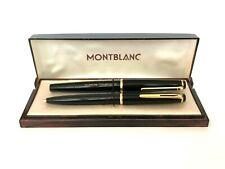 Vintage Montblanc 32 14K Gold Nib Fountain Pen & 38 Ballpoint Pen Lever Clip Set