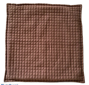 """Crate & Barrel Quilted Euro Pillow Sham Plaza Cocoa 26"""" x 26""""  Chocolate"""