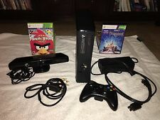 Microsoft Xbox 360 S with Kinect 250GB Glossy Black Console (NTSC)