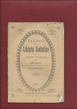 Elenco Libreria Scolastica di Tommaso Vaccarino Scuole Regno d'Italia 1870