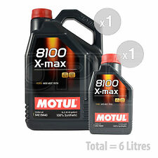 Car Engine Oil Service Kit / Pack 6 LITRES Motul 8100 X-Max 0W-40 6L