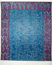 Ouanes Amor Lithographie signée numérotée art abstrait Abstraction Tunisie