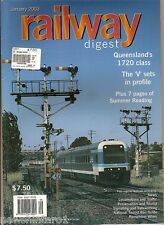 2003  RAILWAY DIGEST MAGAZINES - JANUARY TO DECEMBER MISSING JULY , 11 ISSUES