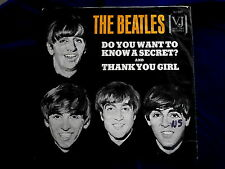 BEATLES~DO YOU WANT TO KNOW A SECRET~THANK YOU GIRL~SLEEVE ONLY~VJ ~ POP 45