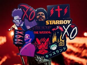 The Weeknd Vinyl Sticker Pack Waterproof