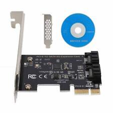 PCIe PCI Express a 6 Gbps SATA 3.0 2 puertos SATA adaptador de placa de tarjeta de expansión III