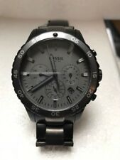 Fossil Authentic Mens Crewmaster Black Smoke Watch CH3073