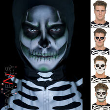 SKELETON Viso Pittura MAKE UP KIT Brillano al Buio Halloween Fancy Dress Trucco