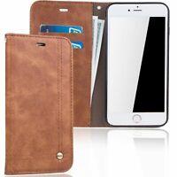 Étui Portable Apple IPHONE 7 Plus/8 Plus Clapet Housse Coque Protection Braun